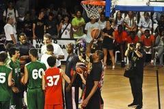 LeBron James Kobe Bryant Kevin Duran Stock Photo