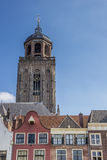 Lebuinus church and old houses in Deventer Royalty Free Stock Photo