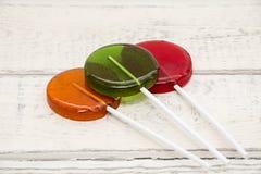 Lecca-lecca, blu, verde, arancio Fotografia Stock