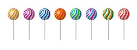 Lecca-lecca con il bastone Sugar Candy Background Fotografia Stock Libera da Diritti