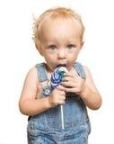 Lecca-lecca del bambino Fotografia Stock Libera da Diritti