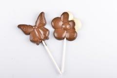 Lecca-lecca del cioccolato Fotografia Stock Libera da Diritti