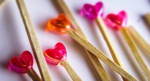 lecca-lecca del cuore Fotografie Stock