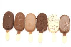 Lecca lecca del gelato Fotografie Stock