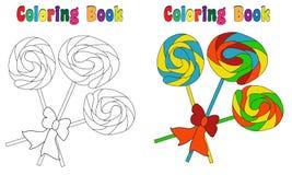 Lecca-lecca del libro da colorare Fotografia Stock