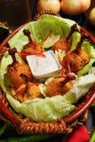 Lecca-lecca del pollo fotografia stock