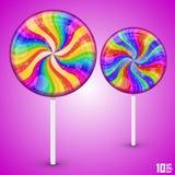 Lecca-lecca di Candy Fotografie Stock Libere da Diritti