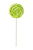 Lecca-lecca dolce con le bande verde chiaro Immagine Stock