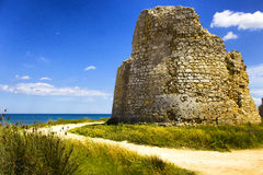 Lecce: море башни Стоковые Фото