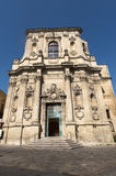 Lecce (Apulia, Italy): Baroque church, facade Royalty Free Stock Photos