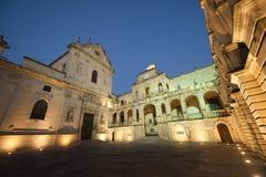 Lecce (Apulia Italy):Baroque square by night Stock Image
