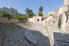 Lecce (Apulia, Italy): Roman theatre, ruins Stock Images