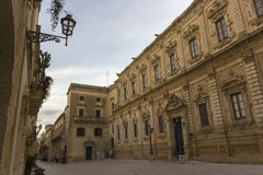 Lecce, baroque palace. Lecce, the Celestine palace. Baroque style Stock Photo