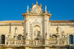 Lecce Cathedral, St. Oronzo statue Stock Photo