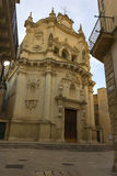 Lecce, the church of San Matteo. Lecce, the baroque church of St. Matthew. stone monuments Lecce Royalty Free Stock Images