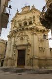 Lecce, the church of San Matteo. Lecce, the baroque church of St. Matthew. stone monuments Lecce Stock Photo