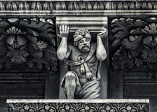 Lecce: Detalle barroco de la iglesia Fotografía de archivo