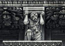 Lecce: Dettaglio barrocco della chiesa Fotografia Stock