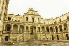 Lecce, episcopal palace in Piazza Duomo. Baroque Stock Image