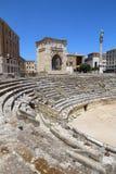 Lecce, Italy. Ancient Roman Amphitheater. City in Salento peninsula Stock Photos