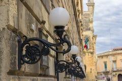 Lecce, lâmpadas de rua Imagens de Stock Royalty Free