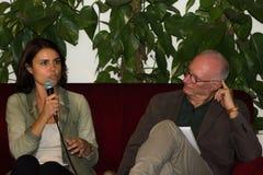 18/10/2014 lecce Marcello-favale Interview simona bonafe und pao Stockbilder