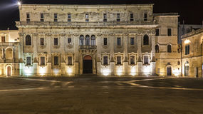 Lecce by night vatican museum Royalty Free Stock Image