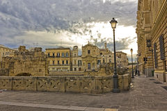 Lecce, Old Town Square. Lecce, Piazza Sant'Oronzo, square saint Orontius, Old Town Stock Images