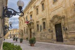 Lecce, palace carafa Stock Image