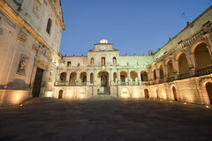 Lecce (Puglia, Italy): The main square at evening Stock Photography