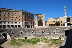 Lecce, roman amphitheatre Royalty Free Stock Photos