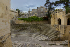 Lecce, Roman theater. Lecce, ancient Roman theater in the old town Royalty Free Stock Image