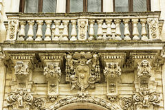 Lecce, Seminar, detail of balcony. Lecce, the seminary palace architectural detail baroque Stock Photography