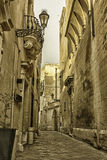 Lecce, the streets of the old town. Streets of the historic center of Lecce. Baroque architecture Stock Photos