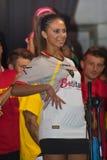Lecce uniforme do futebol do futebol Fotografia de Stock