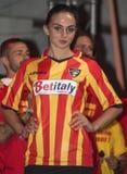 Lecce uniforme do futebol do futebol Foto de Stock Royalty Free