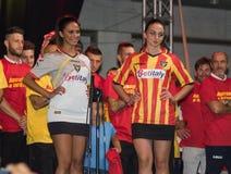 Lecce uniforme do futebol do futebol Imagens de Stock Royalty Free