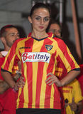 Lecce uniforme du football du football Photo libre de droits