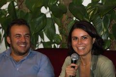 18/10/2014 leccesimonabonafe och paolo foresio Arkivfoton