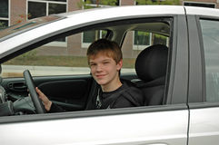 Lección de conducción adolescente Imagenes de archivo
