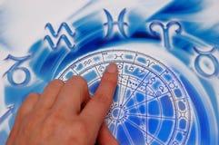 Lección de la astrología imagenes de archivo