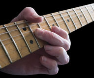 Lección de la guitarra fotografía de archivo