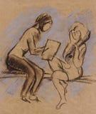 Lección de la música Imagen de archivo libre de regalías