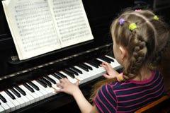 Lección de la música foto de archivo libre de regalías