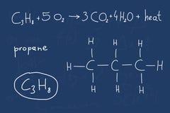 Lección de la química - propano Imagen de archivo
