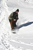 Lección de la snowboard Imagenes de archivo