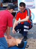 Lección de los primeros auxilios, Lublin, Polonia Imagen de archivo