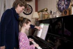 Lección de música Fotos de archivo