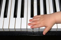 Lección de piano Fotografía de archivo