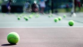 Lección de tenis Imagen de archivo libre de regalías